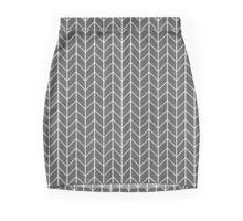 black and white watercolor herringbone pattern skirt