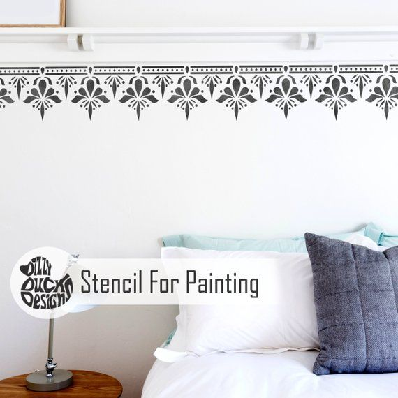 Sagar Border Stencil Indian Border Wall Floor Craft Furniture Stencil For Painting Saga01 Stencil Furniture Stencil Painting Stencils