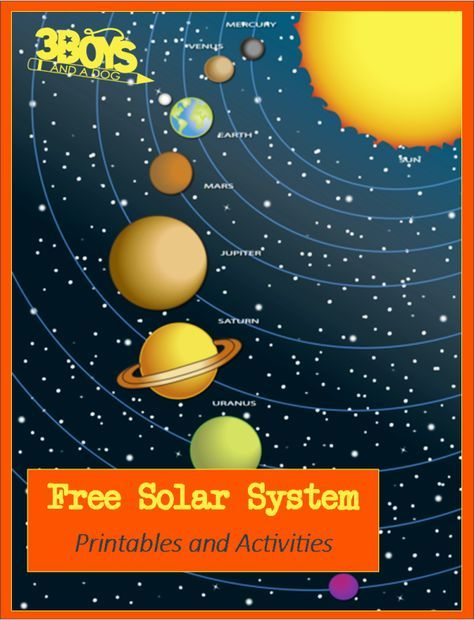 Free Solar System Printables and Activities via 3 Boys and a Dog