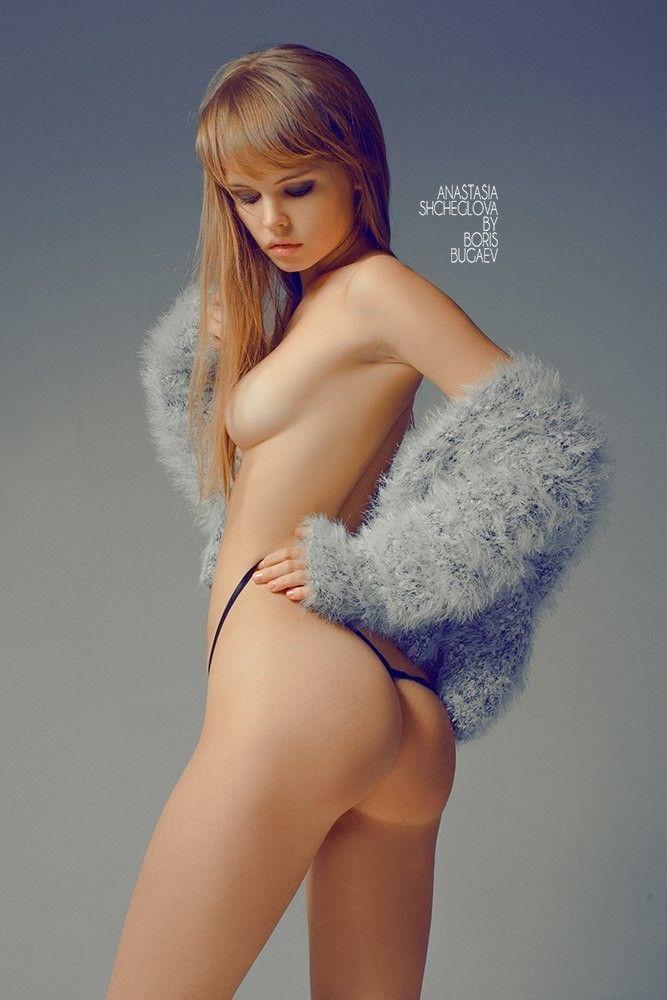Anastasia shcheglova blonde russian model gets naked 5