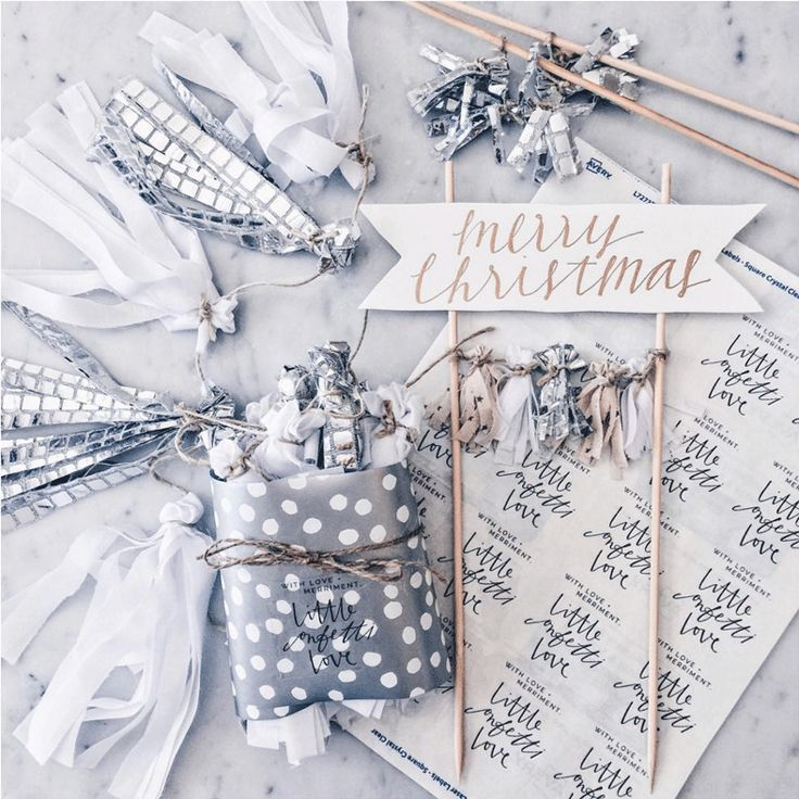 Spectacular gift-wrapping by Little Confetti Love using our Clear Square Labels.