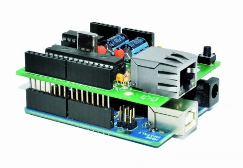 Low cost Ethernet shield with ENC28J60 for Arduino