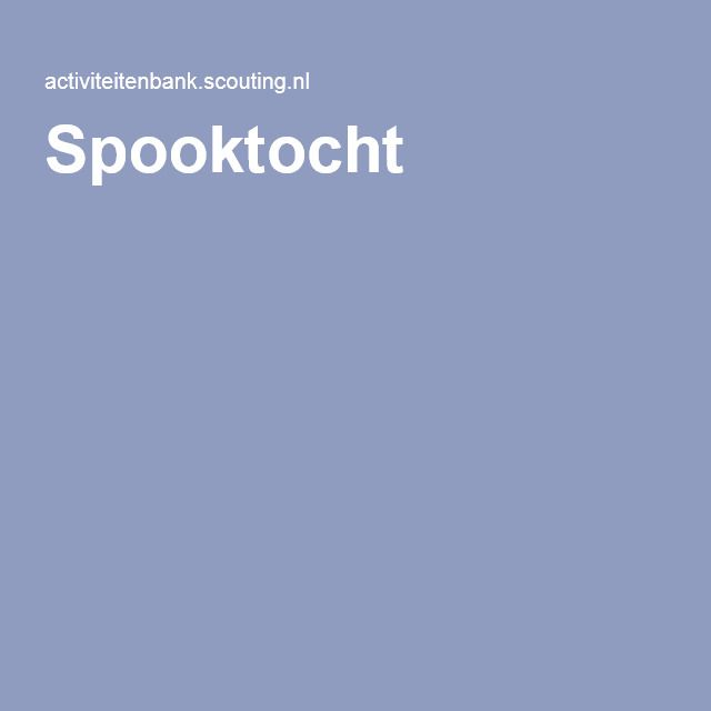 Spooktocht
