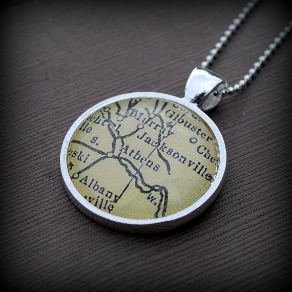 Hey, I found this really awesome Etsy listing at https://www.etsy.com/listing/111193071/ohio-university-athens-map-necklace