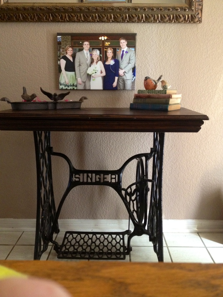 love my new singer sewing machine base table things i made pinterest coudre relooker. Black Bedroom Furniture Sets. Home Design Ideas