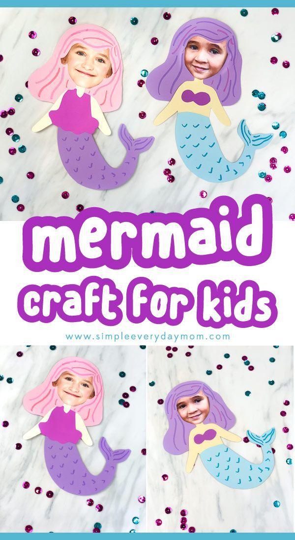 Photo Mermaid Craft Idea For Girls Mermaid Crafts Preschool Art