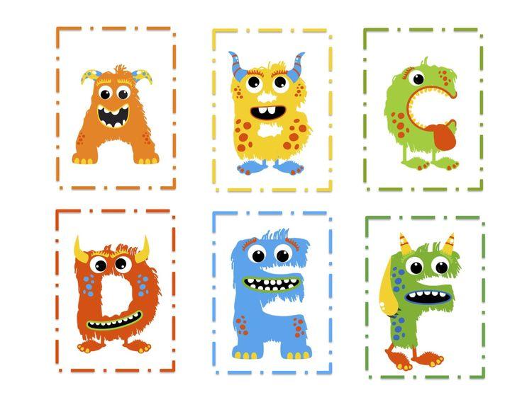Monster Alphabet Preschool Printables Monsters