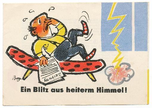 """""""Ein Blitz aus heiterem Himmel""""    Copyright: DDR Museum, Berlin. Eine kommerzielle Nutzung des Bildes ist  nicht erlaubt, but feel free to repin it!"""
