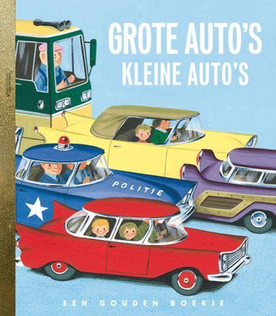 Grote auto's, kleine auto's. Snelle en langzame auto's. Vrachtauto's. Maar ook bussen, taxi's en vuilniswagens. Een Gouden Boekje van Richard Scarry, geheel gewijd aan automobielen.