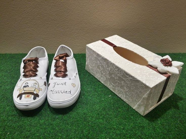 Hand painted sneakers and moneybox