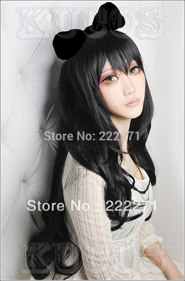 Free Track RWBY Trailer Blake Belladonna Long Curly Costume Party Cosplay Wig Costume Heat Resistant  + Cap