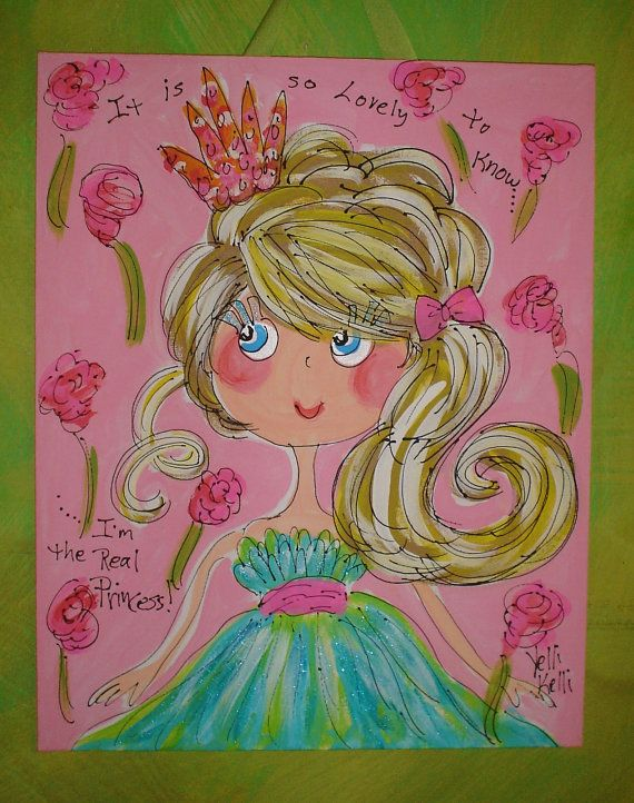 The Real Princess Original Canvas Painting Made To by YelliKelli, $50.00