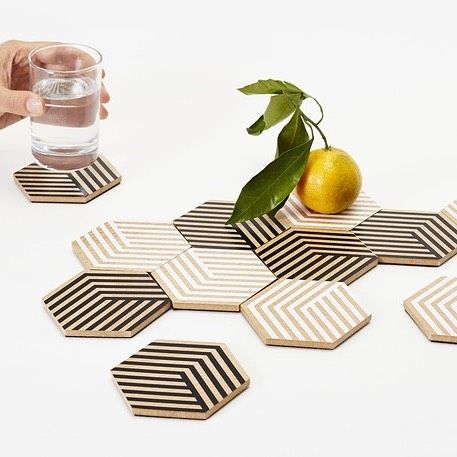 Back in stock is the full range of ever popular Table Tiles by BOWER for Areaware  a brilliant inexpensive Christmas gift for family friend work colleague or yourself!