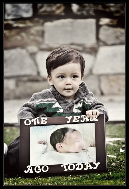 ONE year ago today... cute way to do first birthday pictures..and keep it going!!! #birthday