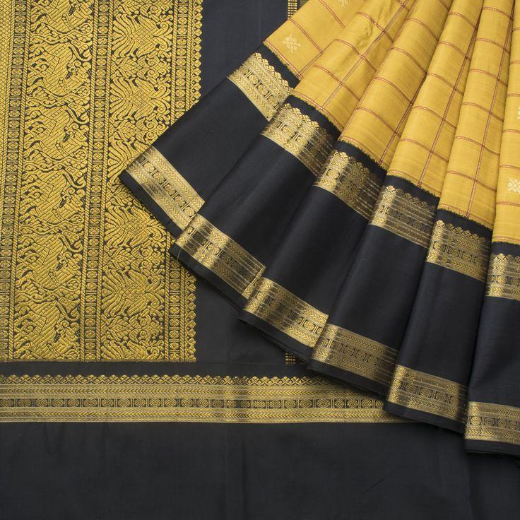 Kanakavalli Handwoven Kanjivaram Silk Sari 1013095 - Sari / Kanjivarams - Parisera