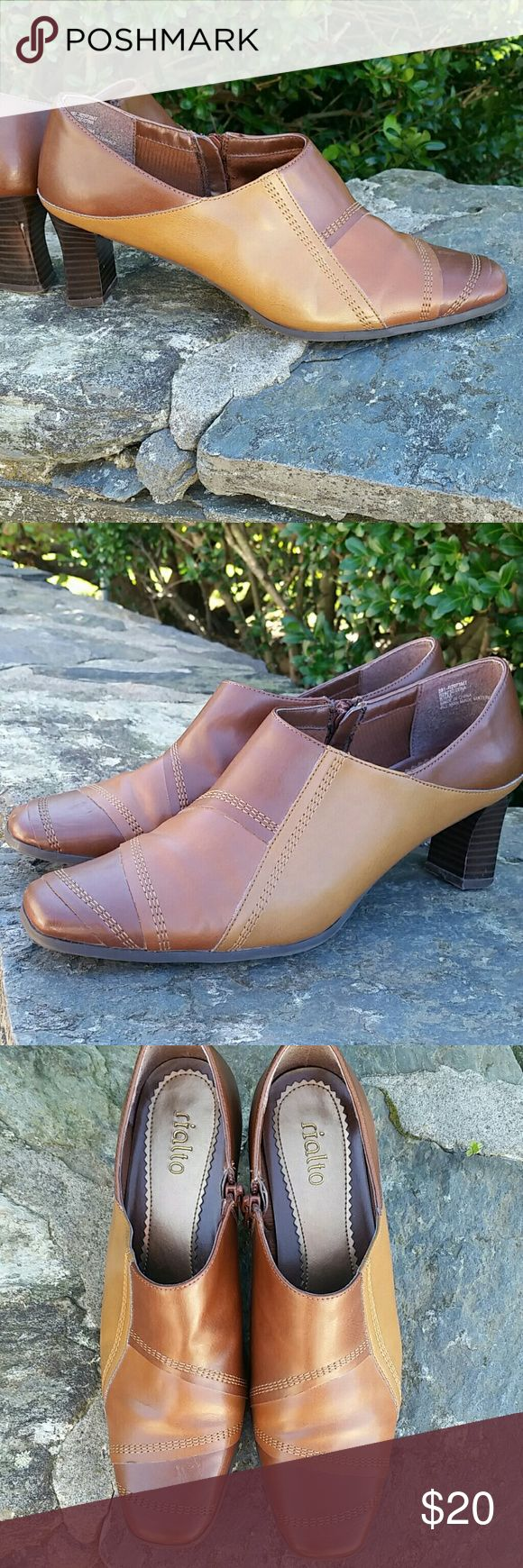 Rialto low ankle patchwork side zip boots Excellent condition like new no rips or stains All zippers work. Very comfortable too! Great for fall season Rialto  Shoes Ankle Boots & Booties