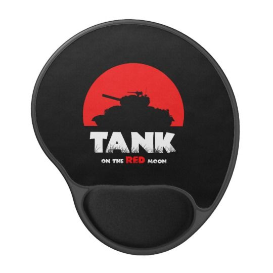 Red Moon Tank Mousepad Gel Mouse Pad