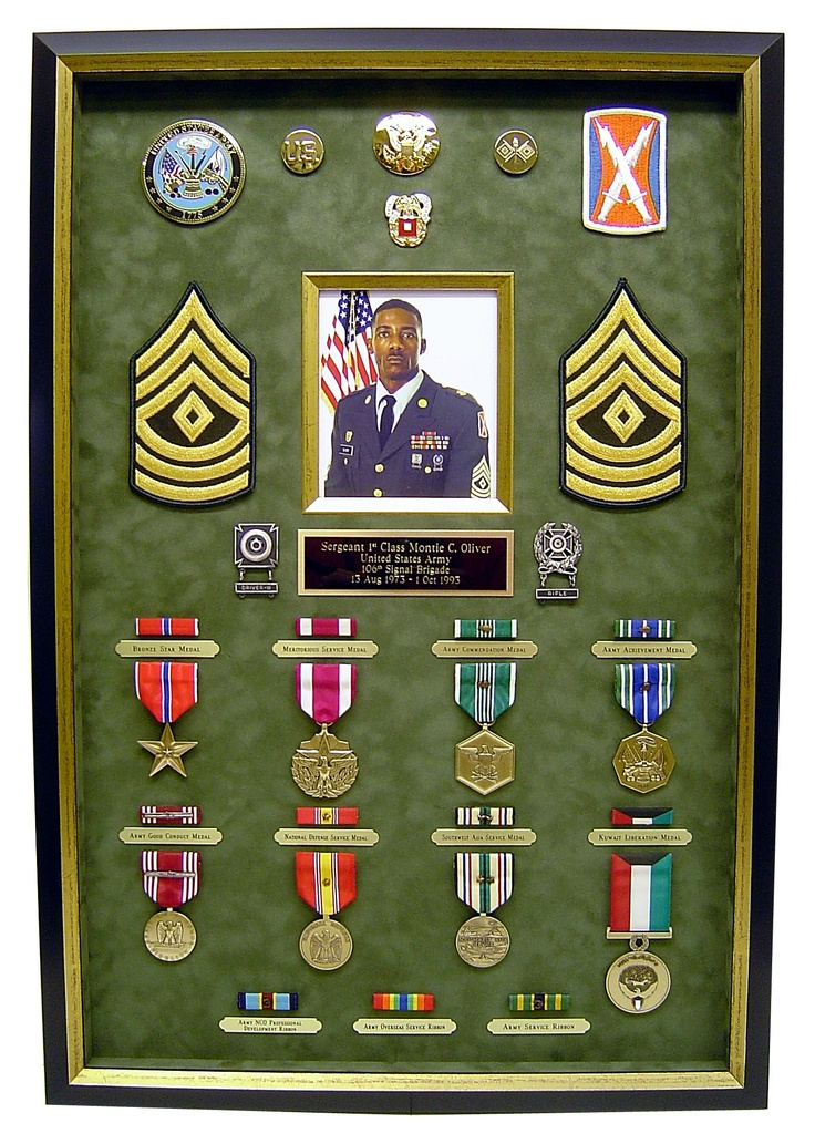 #Military service #shadowbox idea -- such a great way to honor a #veteran you love!