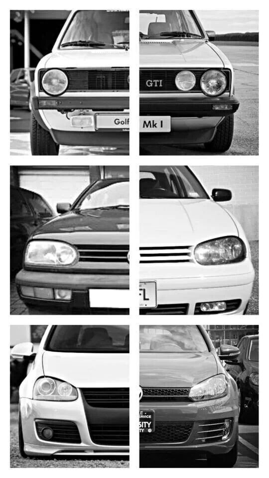 Volkswagen GTI throughout the years.