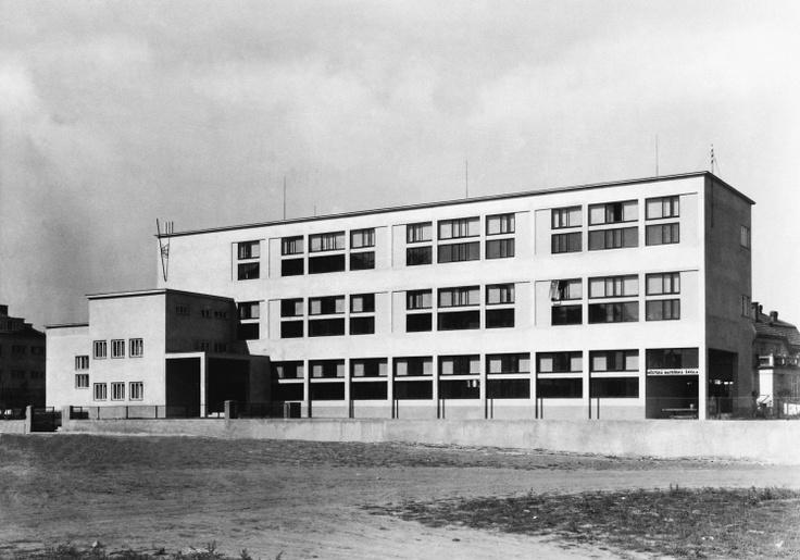 Elementary school, Bohuslav Fuchs, Brno, Czechoslovakia 1928