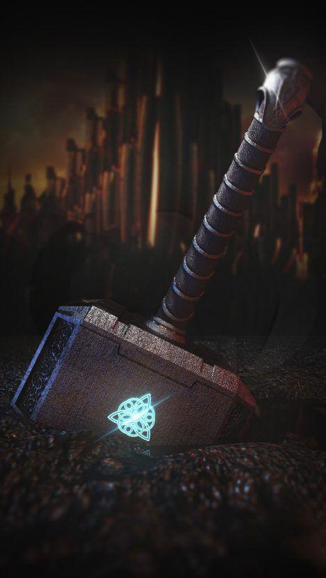Thor Hammer iPhone Wallpaper
