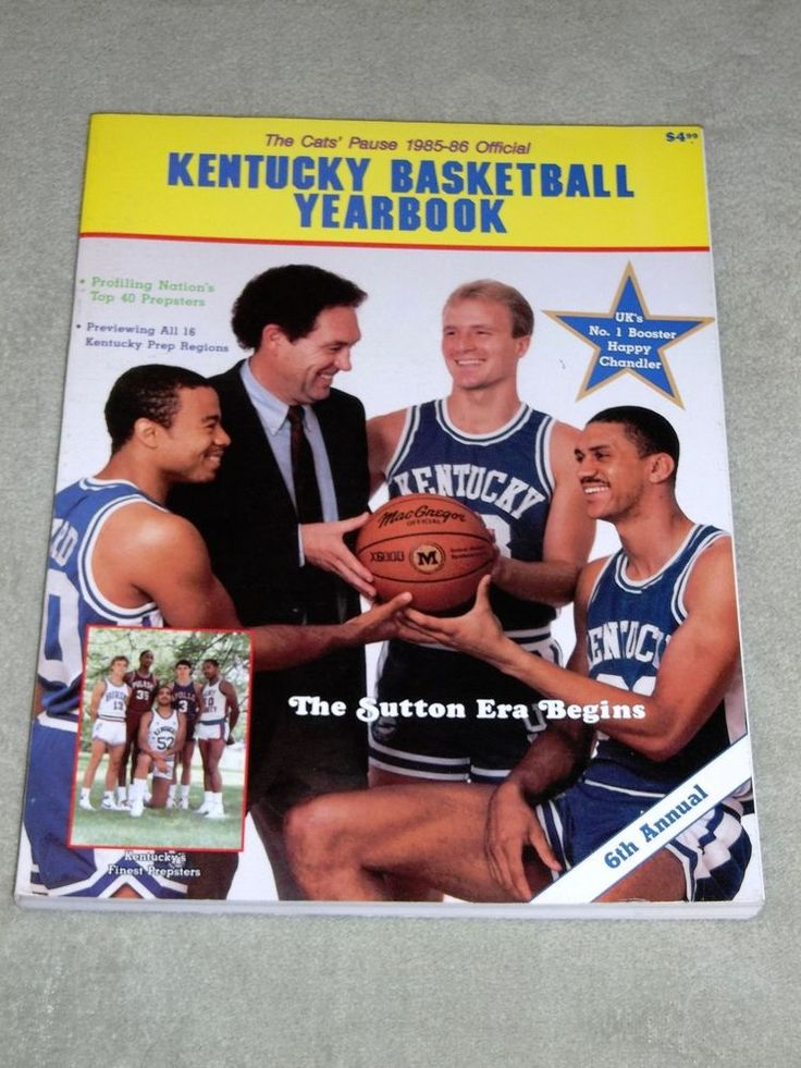 Vintage 198586 The Cats' Pause Kentucky Basketball