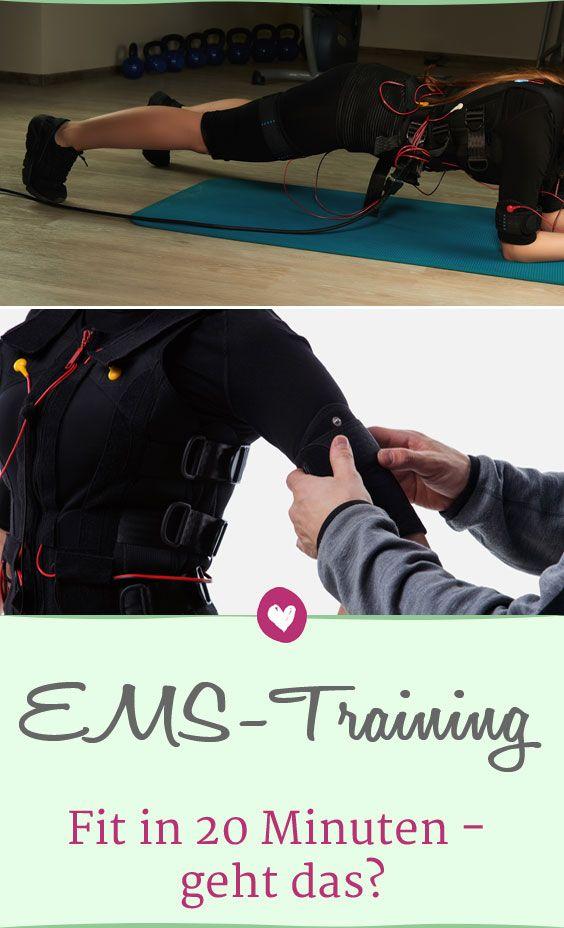 Beim EMS-Training werden die Muskeln durch Strom kontrolliert zusätzlich beansprucht. Die wichtigsten Fragen zum Fitness-Trend. #emstraining #fitness #sport #abnehmen