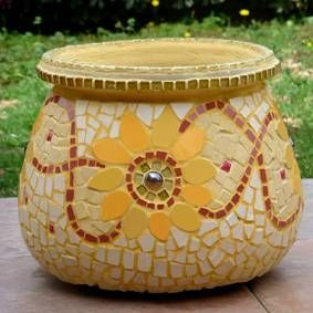 I MET HER HUSBAND THE FOLLOWING YEAR AS MY LAME SOCCER COACH. HE ONLY WANTED TO WIN SO I NEVER GOT TO PLAY. Sunflowers big pot mosaic