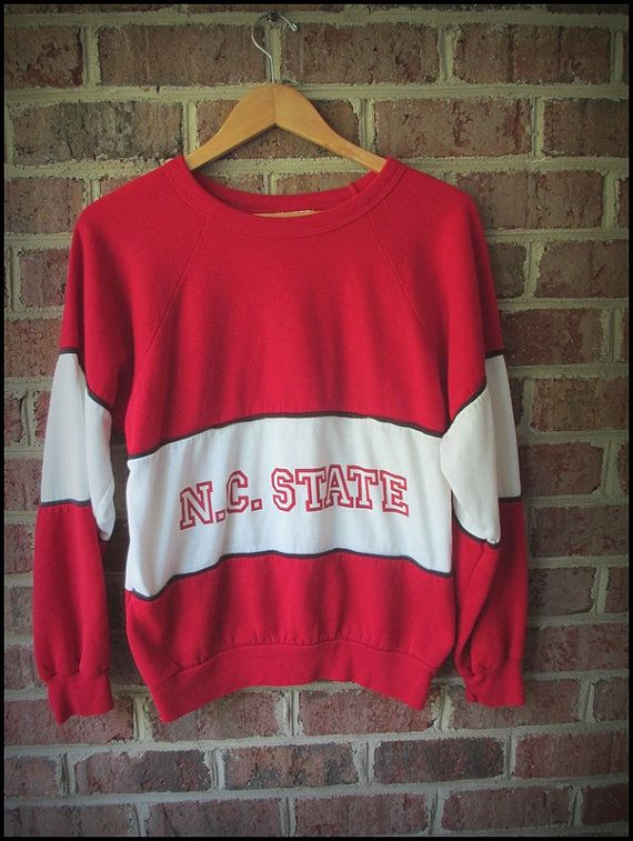 Vintage 80's NCSU NC State Wolfpack Crewneck by CharchaicVintage, $20.00