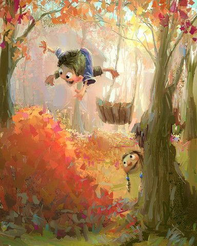 Fall is the perfect time of year for jumping in piles of leaves! This is one of the original Marco Bucci prints. Available in 2 sizes. Product details: - Printed on high-quality, heavy-weight paper -