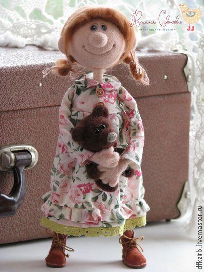 Дуняша - кукла ручной работы,валяние из шерсти,валяная игрушка,Валяние