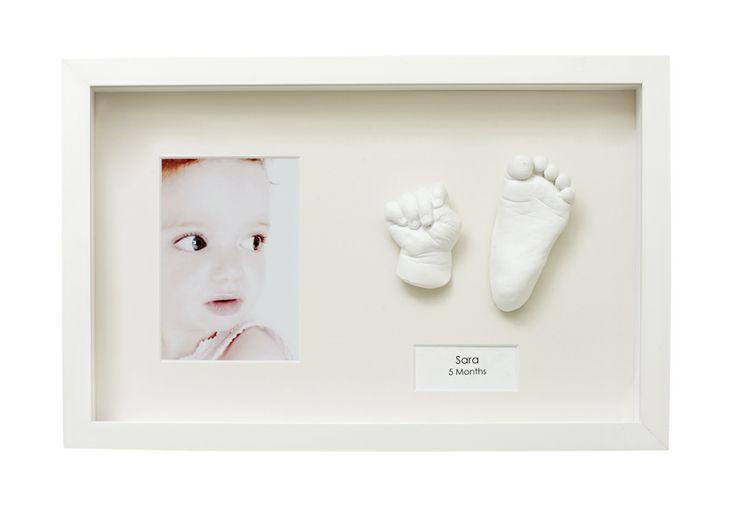 Modern Framed Baby Casting in White