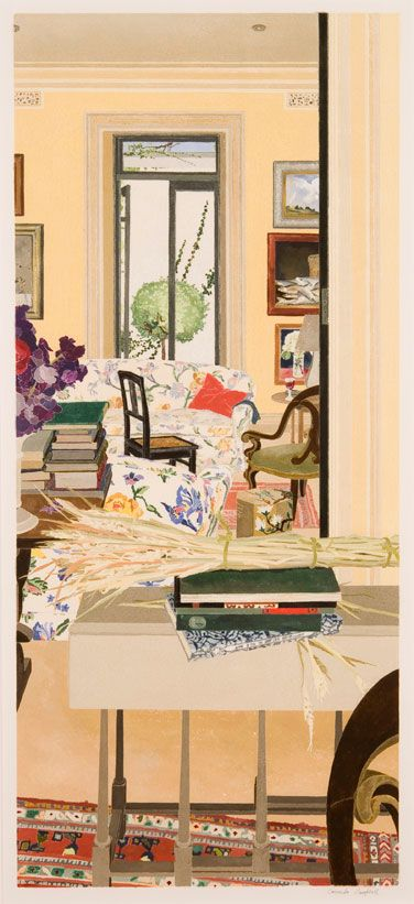 Cressida Campbell - Interior with wheat - 1996