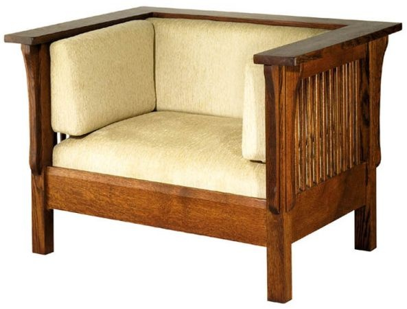 Attirant Los Angeles: Brand New Mission Furniture Style Prairie Solid Oak Lounge  Sofa Chair $1000