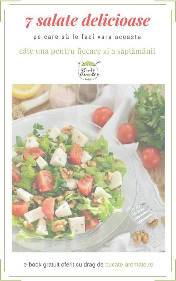 E-book gratuit - 7 salate delicioase pe care să le faci vara aceasta