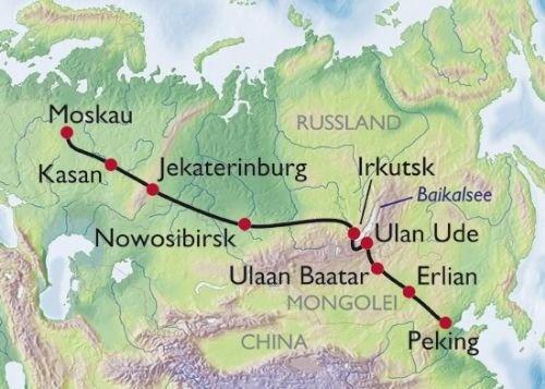Transiberiana - percorso