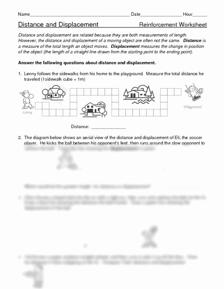 Distance and Displacement Worksheet Answers Fresh Distance