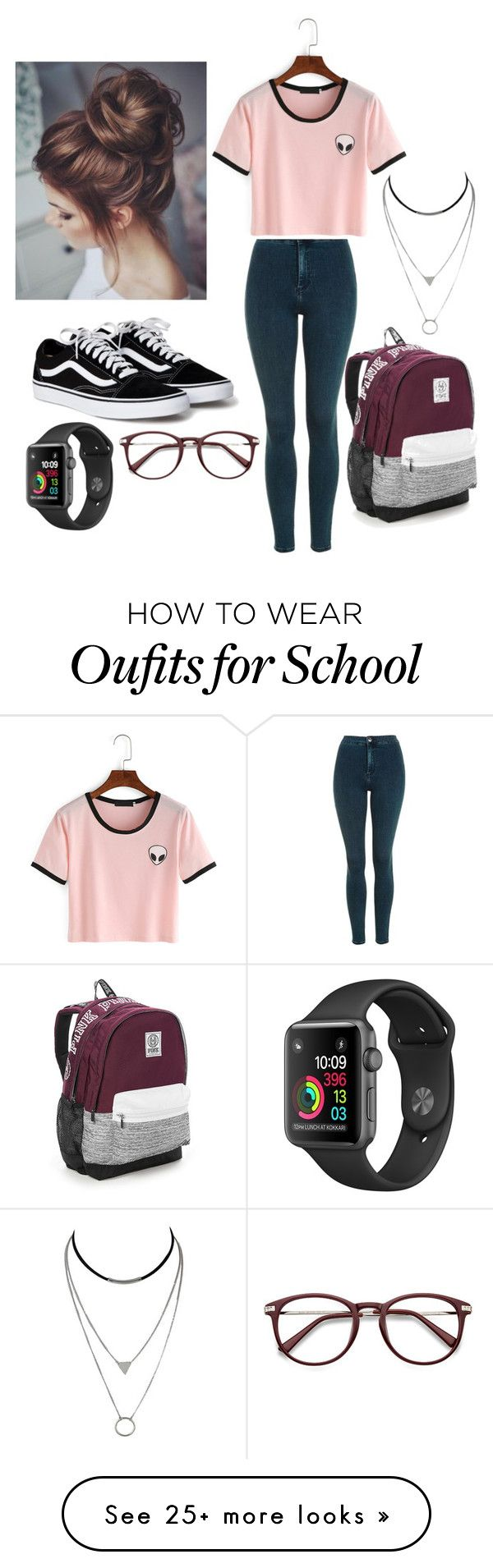 """school"" by andreabergman on Polyvore featuring Topshop and Victoria's Secret"