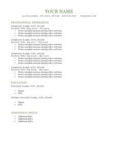 dublin original green downloadable free resume template ms word file