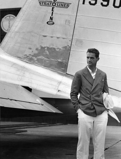 wilfredlewis:  Travelling in style, Mr Howard Hughes.