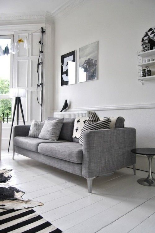 Scandinavian style all white and crisp!