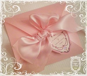 pink envelope♥.•:*´¨`*:•♥with bow