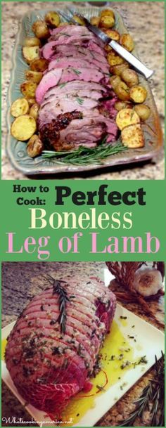Perfect Boneless Leg of Lamb Recipe  |  whatscookingamerica.net  |  #boneless #lamb #easter