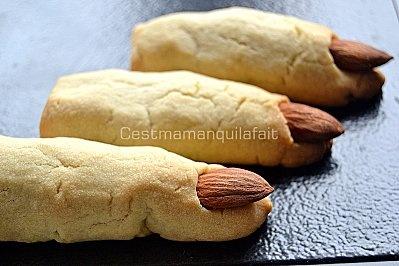 biscuits doigts de sorcières halloween witche's fingers