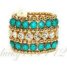Amrita Singh Wainscott Cuff in Turquoise BRC 112 NWT - http://designerjewelrygalleria.com/amrita-singh/amrita-singh-bracelets/amrita-singh-wainscott-cuff-in-turquoise-brc-112-nwt-5/