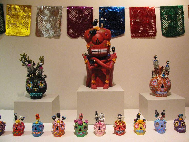 Altar created for Noche de Muertos at the International Folk Art Museum in Santa Fe.