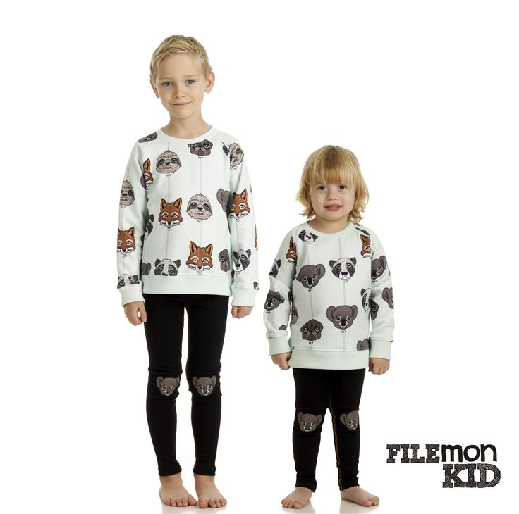 Sweatshirt AOP Balloon Animals 100% organic cotton, GOTS certified Size 80/86-128/134