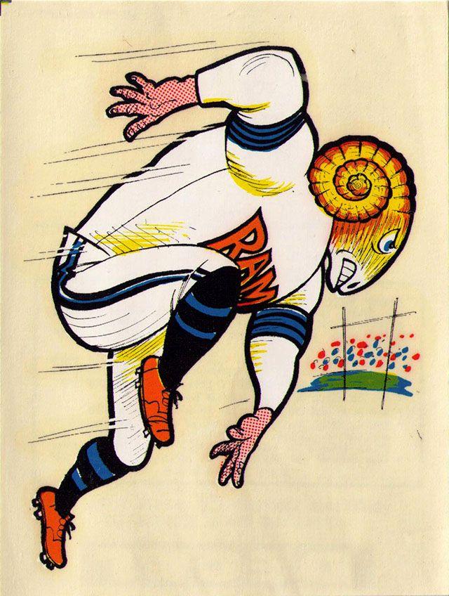Vintage 1969 AFL/NFL Team Mascot Decal - Los Angeles