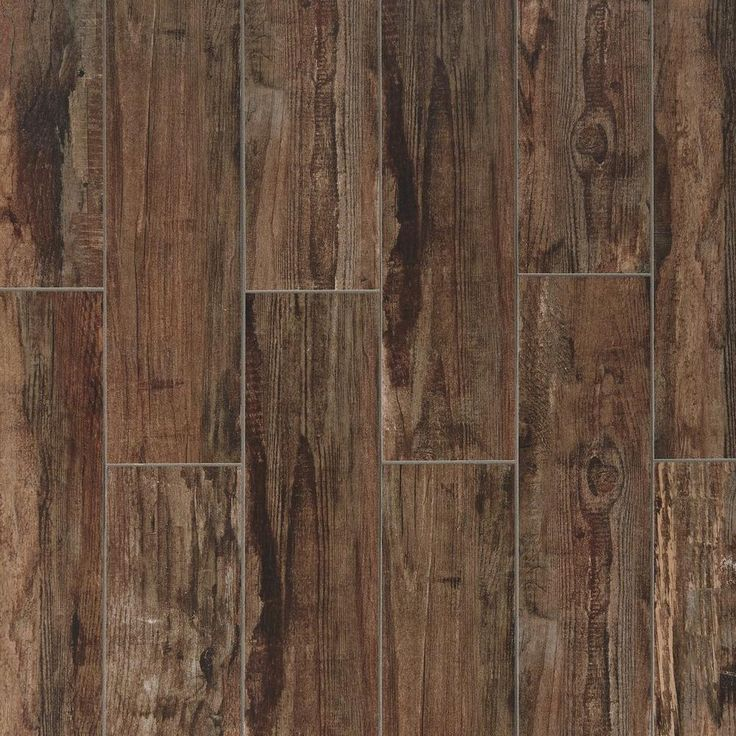 Westford Brown Wood Plank Porcelain Tile - 6in. x 24in. - 100222082 | Floor and Decor