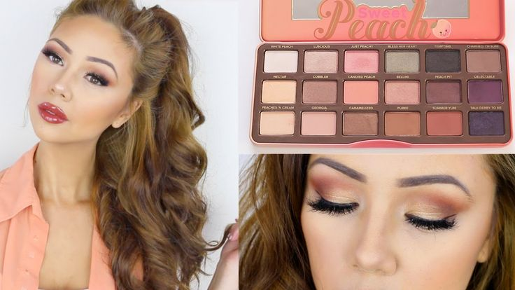 Too Faced Sweet Peach Palette Look • Spring Makeup • Lisa Lorles - YouTube